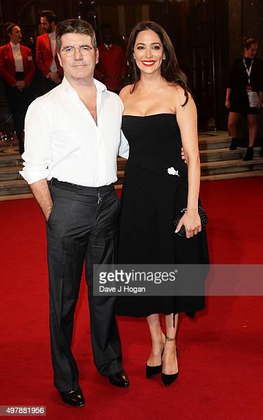 Simon Cowell and Lauren Silverman attend the ITV Gala at London Palladium on November 19 2015 in London England