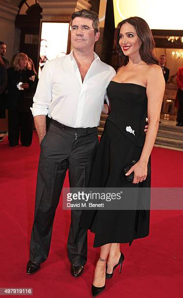 Simon Cowell and Lauren Silverman attend the ITV Gala at the London Palladium on November 19 2015 in London England