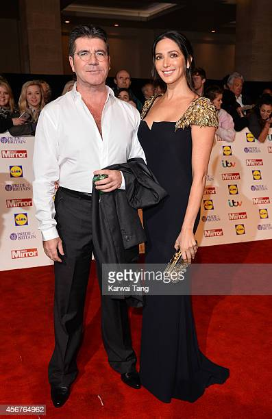 Simon Cowell and Lauren Silverman attend the Pride of Britain awards at The Grosvenor House Hotel on October 6 2014 in London England