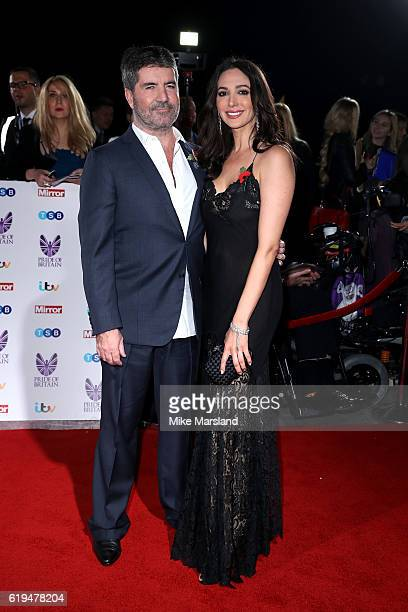 Simon Cowell and Lauren Silverman attend the Pride Of Britain Awards at The Grosvenor House Hotel on October 31 2016 in London England