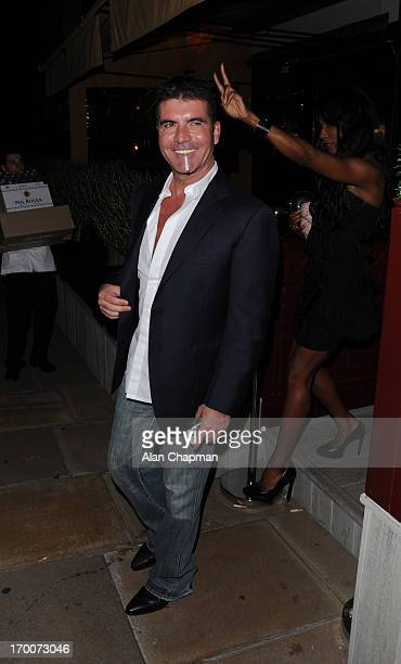 Simon Cowell and Sinitta sighting at Loulou's Mayfair on June 6 2013 in London England