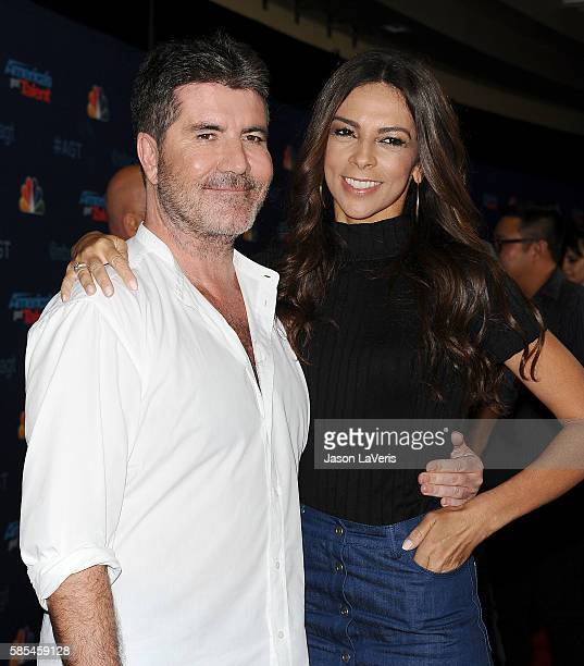 Simon Cowell and Terri Seymour attend NBC's 'America's Got Talent' season 11 live show at Dolby Theatre on August 2 2016 in Hollywood California
