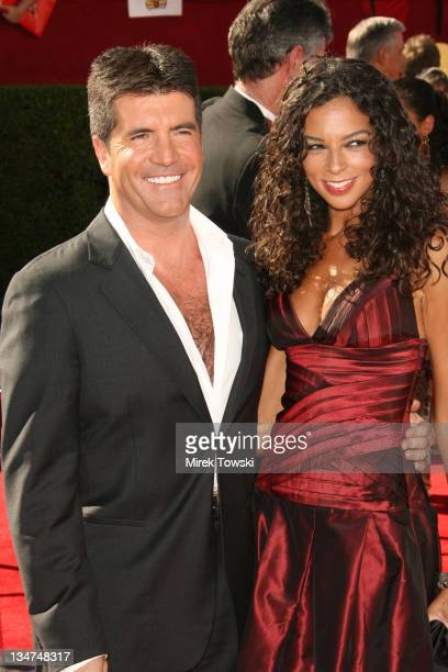 Simon Cowell and Terri Seymour during 58th Annual Primetime Emmy Awards Arrivals at Shrine Auditorium in Los Angeles California United States