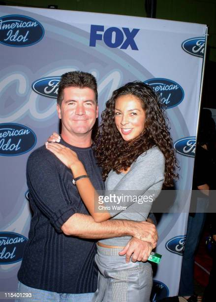 Simon Cowell and Terri Seymour during 'American Idol' Season 3 Top 12 Finalists Party Arrivals at Pearl in Los Angeles California United States