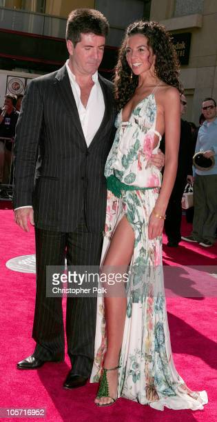Simon Cowell and Terri Seymour during 'American Idol' Season 4 Finale Arrivals at The Kodak Theatre in Hollywood California United States