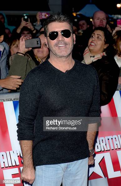 Simon Cowell arrives at the Birmingham audtions for Britain's Got Talent at Birmingham Hippodrome on February 4 2016 in Birmingham England