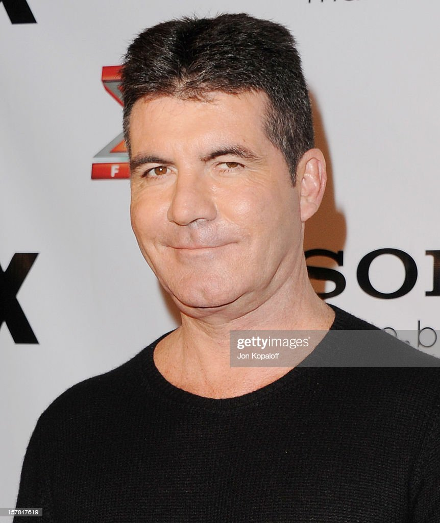 Simon Cowell arrives at The X-Factor Viewing Party at on December 6, 2012 in Los Angeles, California.