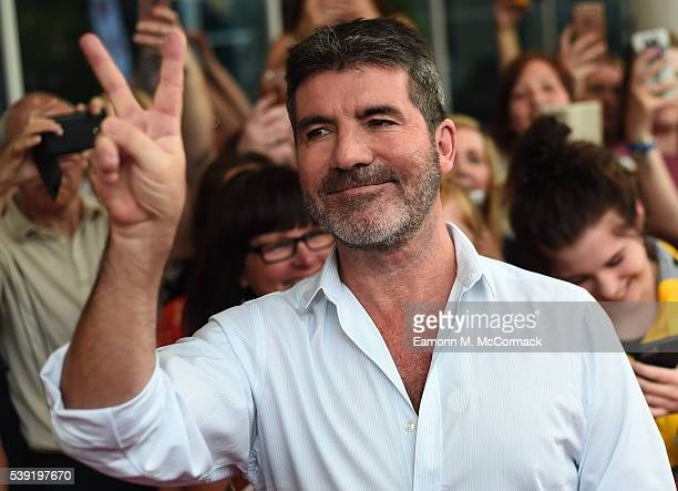 Simon Cowell arrives for the first X Factor auditions of 2016 on June 10 2016 in Leicester United Kingdom