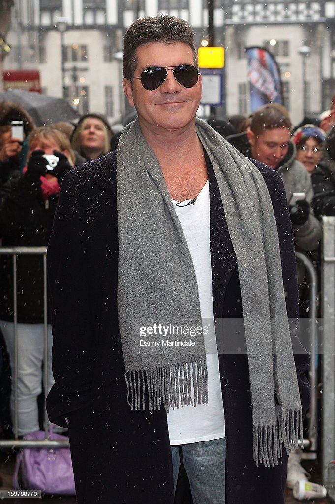 <a gi-track='captionPersonalityLinkClicked' href=/galleries/search?phrase=Simon+Cowell&family=editorial&specificpeople=203007 ng-click='$event.stopPropagation()'>Simon Cowell</a> arrives for the London judges auditions for 'Britain's Got Talent' at London Palladium on January 20, 2013 in London, England.