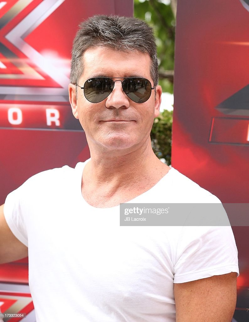 Simon Cowell attend Fox's 'The X Factor' Judges at Galen Center on July 11, 2013 in Los Angeles, California.