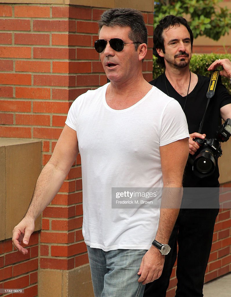 Simon Cowell attends Fox's 'The X Factor' Judges at the Galen Center on July 11, 2013 in Los Angeles, California.
