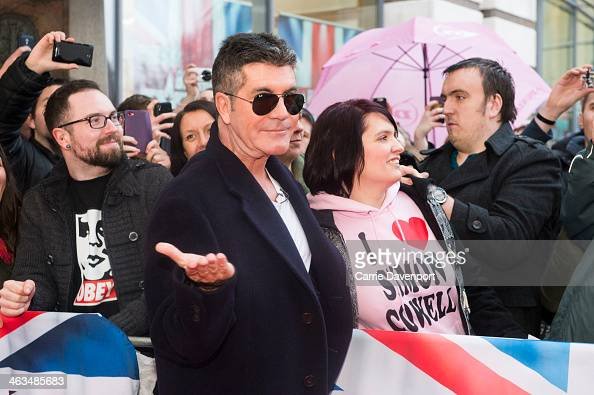 Simon Cowell attends the Britain's Got Talent auditions on January 18 2014 in Belfast Northern Ireland