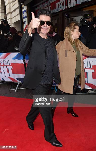 Simon Cowell attends the London auditions for Britain's Got Talent at Dominion Theatre on February 11 2015 in London England
