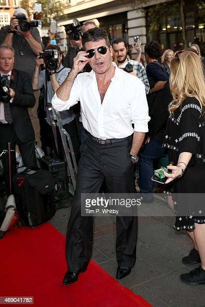 Simon Cowell attends the London Auditions for Britain's Got Talent at The Mayfair Hotel on April 9 2015 in London England