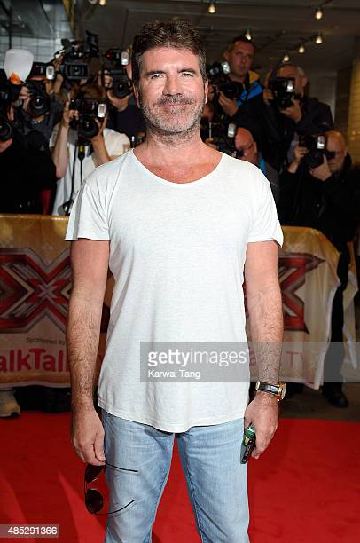 Simon Cowell attends the press launch of 'The X Factor' at the Picturehouse Central on August 26 2015 in London England