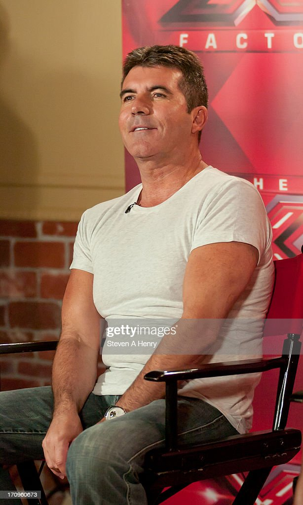 Simon Cowell attends the 'The X Factor' Judges press conference at Nassau Veterans Memorial Coliseum on June 20, 2013 in Uniondale, New York.