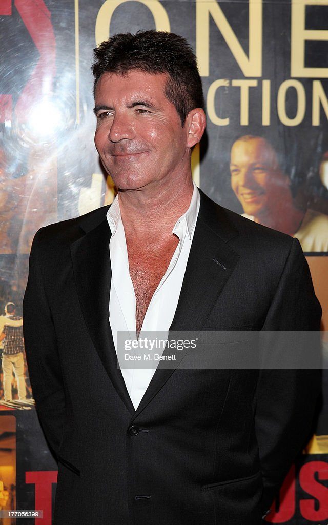 <a gi-track='captionPersonalityLinkClicked' href=/galleries/search?phrase=Simon+Cowell&family=editorial&specificpeople=203007 ng-click='$event.stopPropagation()'>Simon Cowell</a> attends the World Premiere of 'One Direction: This Is Us 3D' at Empire Leicester Square on August 20, 2013 in London, England.