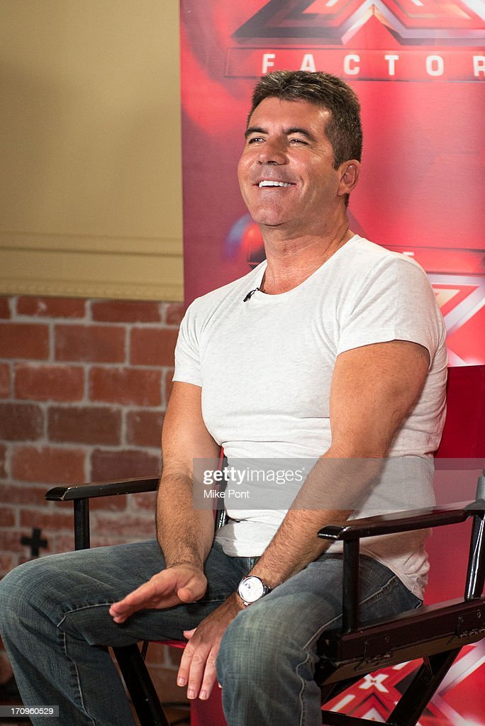 Simon Cowell attends 'The X Factor' Judges press conference at Nassau Veterans Memorial Coliseum on June 20, 2013 in Uniondale, New York.