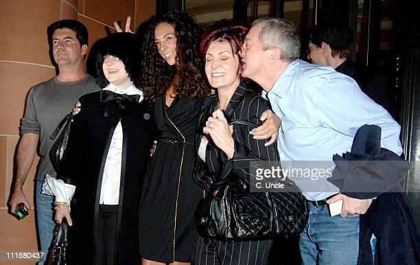 Simon Cowell Kelly Osbourne Terri Seymour Sharon Osbourne and Louis Walsh