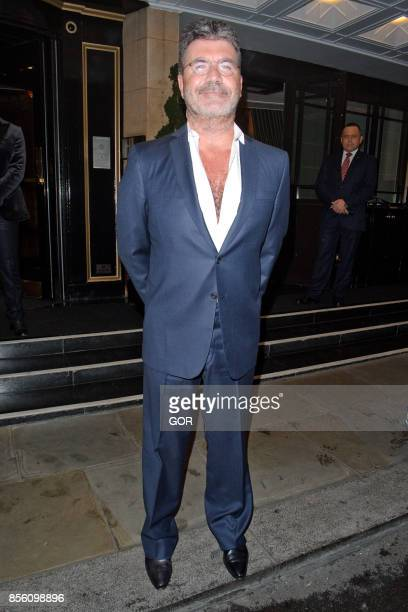 Simon Cowell sighting at the Dorchester Hotel on September 30 2017 in London England