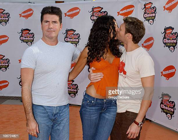 Simon Cowell Terri Seymour and Ryan Seacrest during Nickelodeon's 18th Annual Kids Choice Awards Arrivals at UCLA Pauley Pavilion in Westwood...