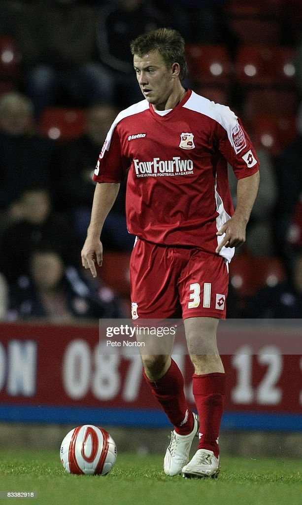 Simon Cox of Swindon Town in action during the Coca Cola League One Match between Swindon Town and Northampton Town at the County Ground on October 21, 2008 in Swindon, England.