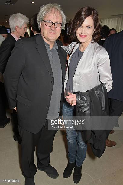 Simon Curtis and Elizabeth McGovern attend the London premiere of 'The True Cost' at the Curzon Bloomsbury on May 27 2015 in London England