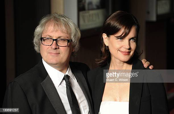 Simon Curtis and Elizabeth McGovern attend the 'My Week With Marilyn' European Premiere at Cineworld Haymarket on November 20 2011 in London England