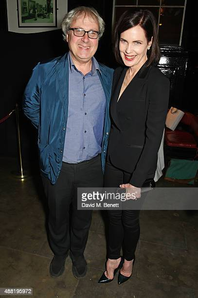 Simon Curtis and Elizabeth McGovern attend the 'Photograph 51' press night after party at the The National Cafe on September 14 2015 in London England