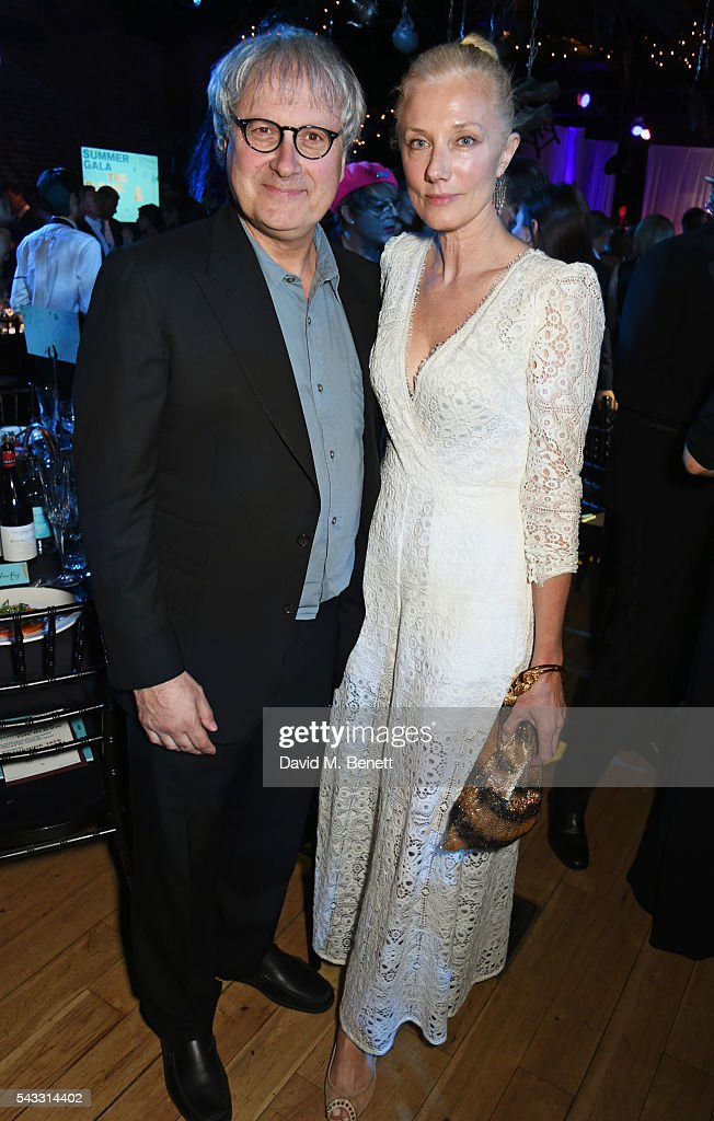 Simon Curtis (L) and <a gi-track='captionPersonalityLinkClicked' href=/galleries/search?phrase=Joely+Richardson&family=editorial&specificpeople=201859 ng-click='$event.stopPropagation()'>Joely Richardson</a> attend the Summer Gala for The Old Vic at The Brewery on June 27, 2016 in London, England.