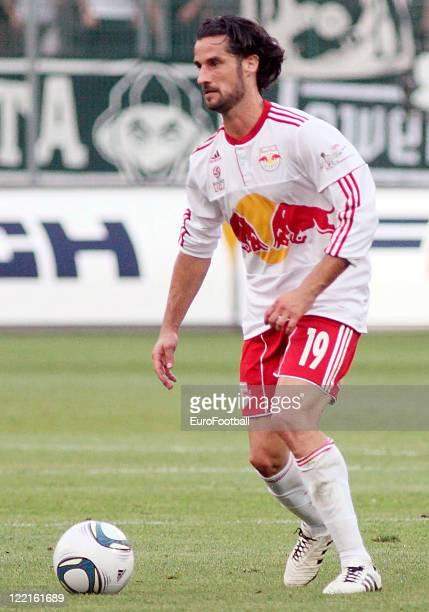 Simon Cziommer of Red Bull Salzburg in action during the Austrian Bundesliga match between FC Red Bull Salzburg and SK Sturm Graz held on August 21...