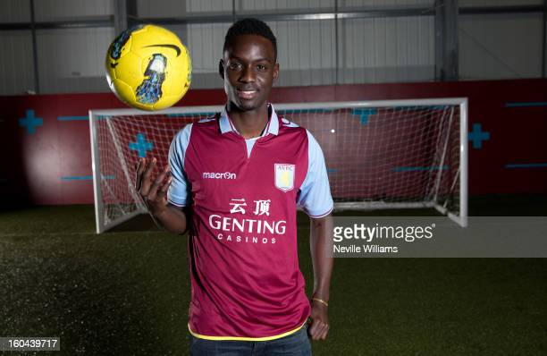 Simon Dawkins of Aston Villa poses for a picture at the club's training ground at Bodymoor Heath on January 31 2013 in Birmingham England