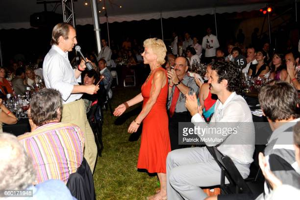 Simon de Pury and Lisa de Kooning attend 'Inferno' The 16th Annual WATERMILL CENTER Summer Benefit at The Watermill Center on July 25 2009 in...