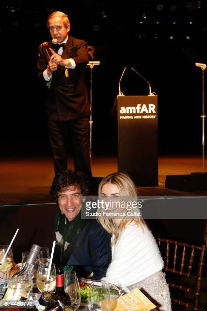 Simon de Pury and Ricardo Almeira attends the 7th Annual amfAR Inspiration Gala on April 27 2017 in Sao Paulo Brazil