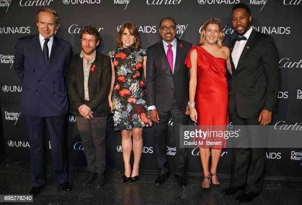 Simon de Pury Dustin Yellin Princess Eugenie of York Michel Sidibe UNAIDS Executive Director Caroline Rupert and Ndaba Mandela attend the UNAIDS Gala...