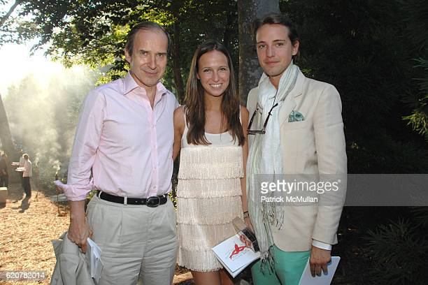 Simon de Pury Misha Nonoo and Alexander Gilkes attend The 15th Annual WATERMILL Summer Benefit at The Watermill Center on July 26 2008 in Watermill NY