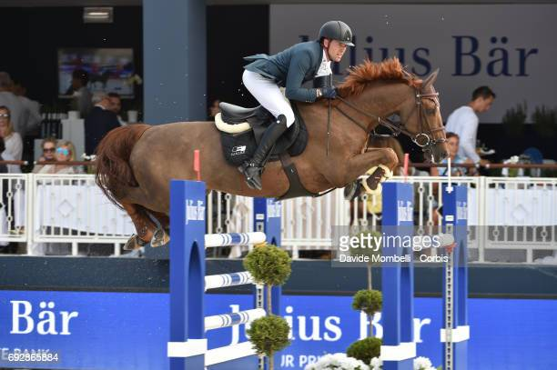 Simon Delestre of France riding Hermes Ryan during the Longines Grand Prix Athina Onassis Horse Show on June 3 2017 in St Tropez France