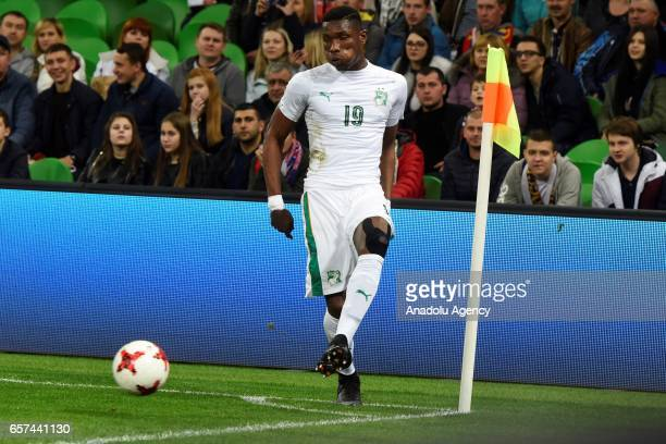 Simon Deli of Cote d'Ivoire's during the friendly football match at Krasnodar Stadium in Krasnodar Russia on March 242017