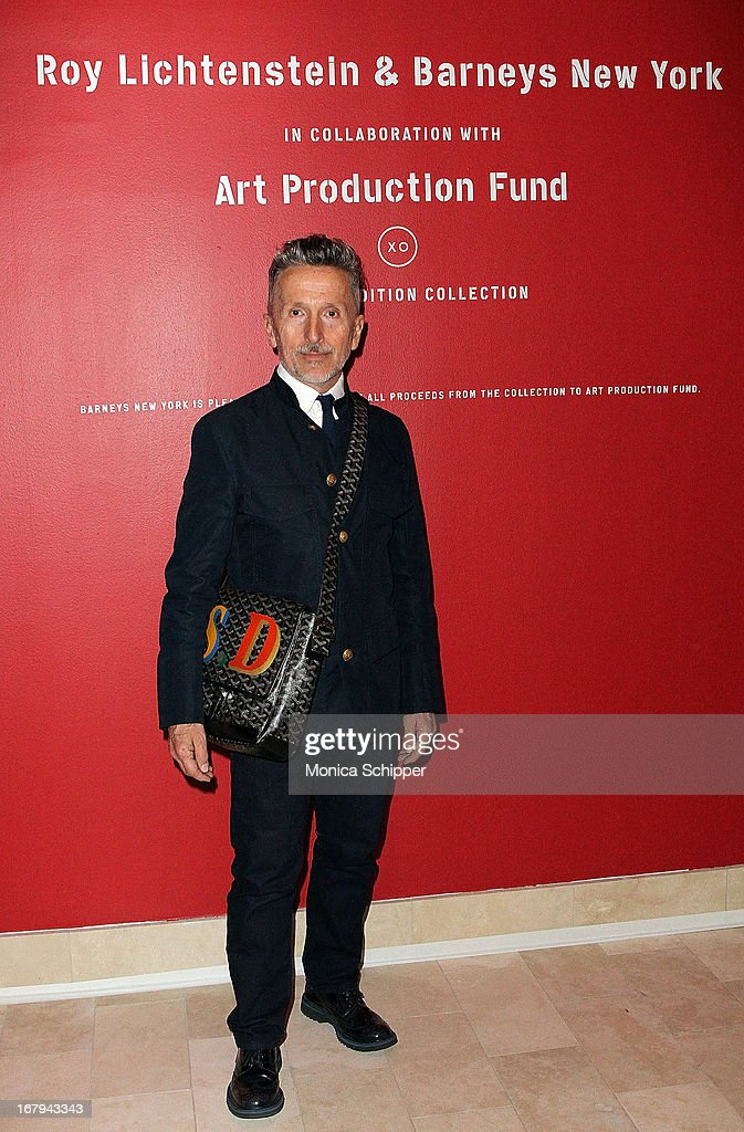 <a gi-track='captionPersonalityLinkClicked' href=/galleries/search?phrase=Simon+Doonan&family=editorial&specificpeople=5310702 ng-click='$event.stopPropagation()'>Simon Doonan</a> attends Roy Lichtenstein & Barneys New York Limited Edition Collection Launch Event at Barneys New York on May 2, 2013 in New York City.