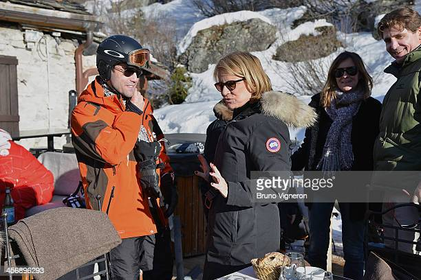 Simon Dufeigneux and Nicole Garcia attend the 5th edition of Les Arcs European Film Festival on December 15 2013 in Les Arcs France