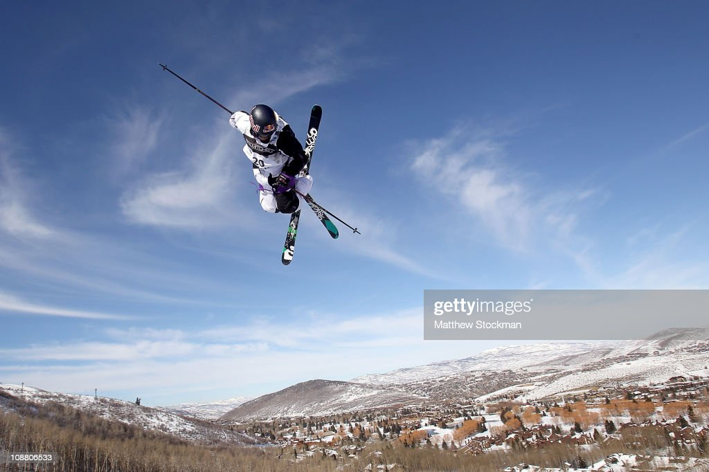 <a gi-track='captionPersonalityLinkClicked' href=/galleries/search?phrase=Simon+Dumont&family=editorial&specificpeople=221236 ng-click='$event.stopPropagation()'>Simon Dumont</a> #20 during practice for the Ski Half Pipe competition at the FIS Freestyle World Championships at Park City Mountain Resort on February 3, 2011 in Park City, Utah.
