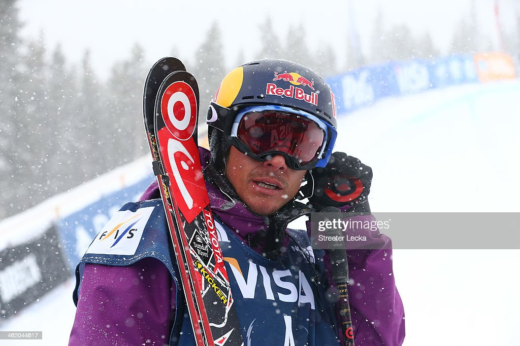 <a gi-track='captionPersonalityLinkClicked' href=/galleries/search?phrase=Simon+Dumont&family=editorial&specificpeople=221236 ng-click='$event.stopPropagation()'>Simon Dumont</a> of the USA reacts after his run in the men's freeskiing halfpipe final on day 5 of the U.S. Snowboarding and Freeskiing Grand Prix Breckenridge on January 12, 2014 in Breckenridge, Colorado.