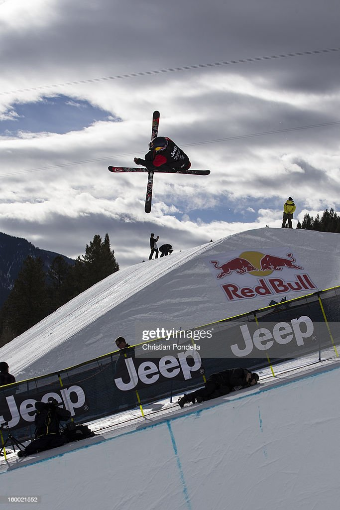 <a gi-track='captionPersonalityLinkClicked' href=/galleries/search?phrase=Simon+Dumont&family=editorial&specificpeople=221236 ng-click='$event.stopPropagation()'>Simon Dumont</a> of the USA skis during Men's Superpipe elimination at the X Games Aspen 2013 at Buttermilk January 24, 2013 in Aspen, Colorado.