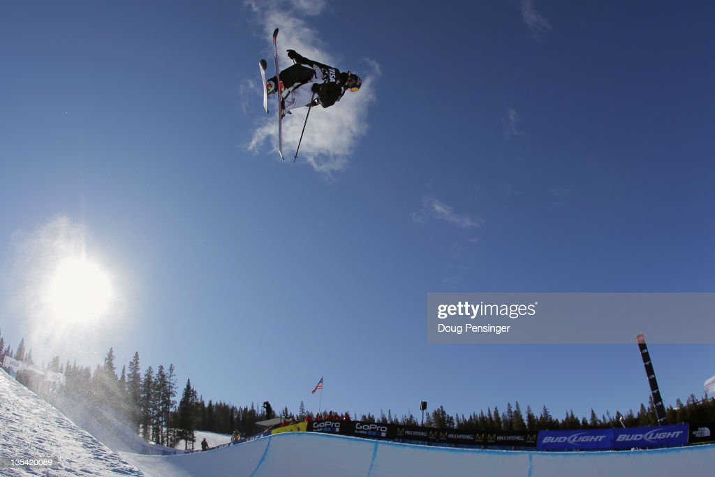 <a gi-track='captionPersonalityLinkClicked' href=/galleries/search?phrase=Simon+Dumont&family=editorial&specificpeople=221236 ng-click='$event.stopPropagation()'>Simon Dumont</a> skis to ninth place in the halfpipe finals of the FIS Freestyle World Cup at the VISA US Freeskiing Grand Prix on December 9, 2011 in Copper Mountain, Colorado.