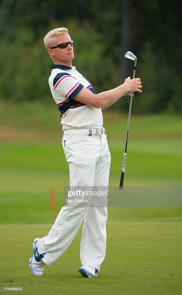 <a gi-track='captionPersonalityLinkClicked' href=/galleries/search?phrase=Simon+Dyson&family=editorial&specificpeople=214775 ng-click='$event.stopPropagation()'>Simon Dyson</a> of England in action during the Pro-Am of the M2M Russian Masters at Tseleevo Golf & Polo Club on July 24, 2013 in Moscow, Russia.