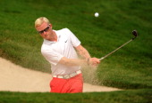 Simon Dyson of England plays a shot during previews ahead of the Thailand Golf Championship at Amata Spring Country Club on December 4 2012 in...