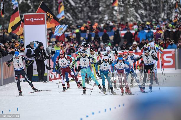 Simon Fourcade of France competes Alexey Volkov of Russia takes 2nd place Artem Pryma of Ukraine competes Aaron Hofer of Italy competes Christian Gow...