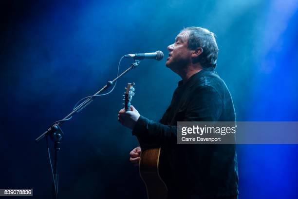 Simon Fowler of Ocean Colour Scene performs at Custom House Square on August 25 2017 in Belfast Northern Ireland