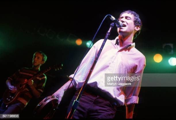 Simon Fowler of Ocean Colour Scene performs on stage United Kingdom 1996