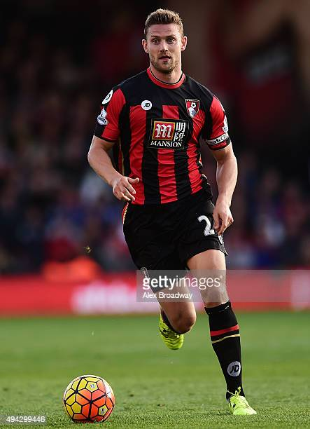 Simon Francis of AFC Bournemouth in action during the Barclays Premier League match between AFC Bournemouth and Tottenham Hotspur at Vitality Stadium...